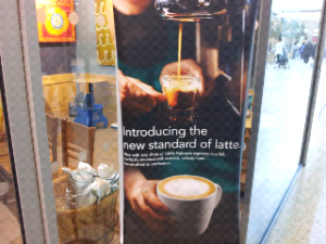 starbucks shot poster